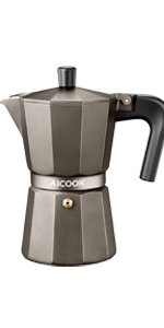 Amazon.com: AICOOK Stovetop Espresso Machine, 6 Cups Moka ...
