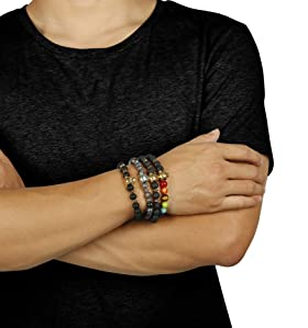 42fed8a2d5 FIBO STEEL 1-5 Pcs Lava Rock Stone Bead Bracelet for Men Women Leopard Head  Bracelet ...