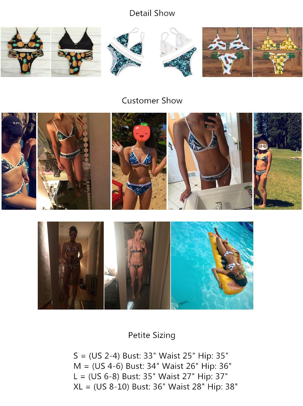 Amazon.com: Sherry007 bikini, cuello sin mangas, traje de ...