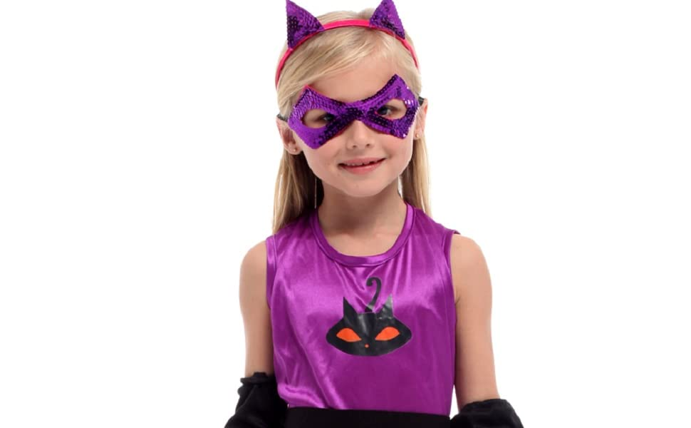 Amazoncom Shanghai Story Cat Halloween Costume For Girls Catwoman