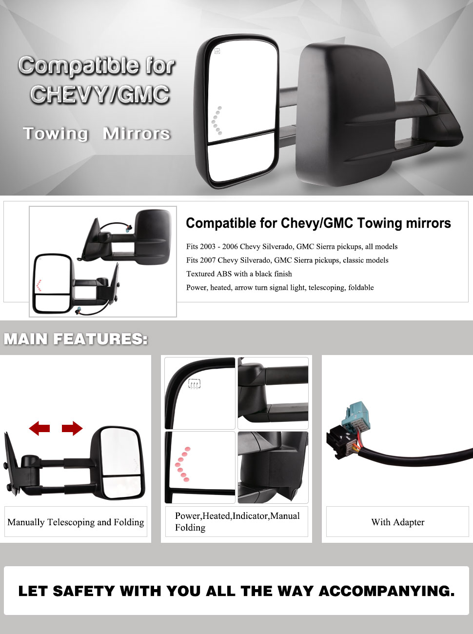 Amazon Com Yitamotor Compatible For Chevy Towing Mirrors