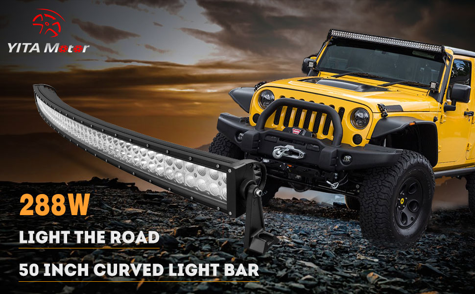 54oYTM7rRq2._UX970_TTW__ amazon com yitamotor 50 inch curved led light bar spot flood 50 300 watt led light bar wiring harness at pacquiaovsvargaslive.co