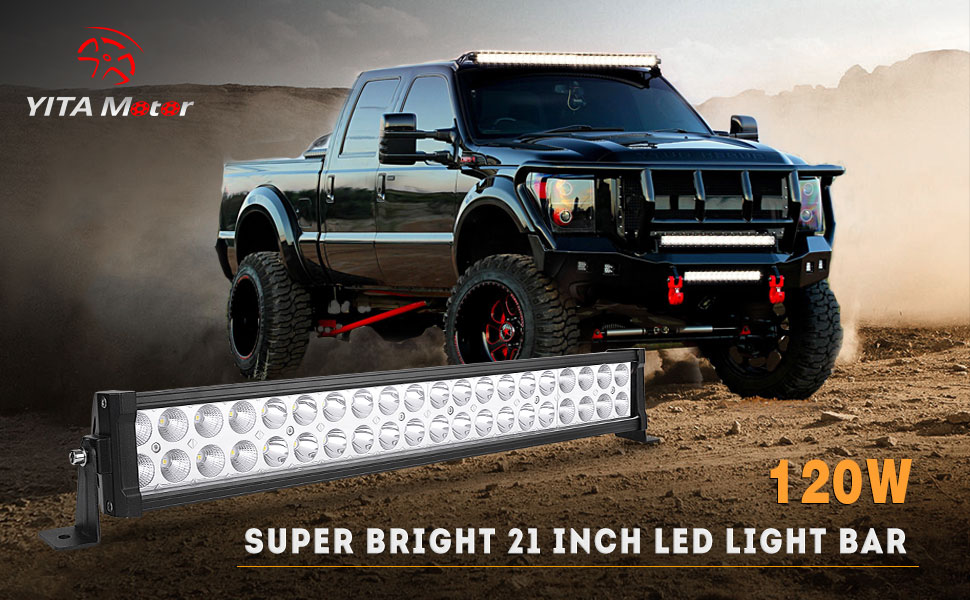 Amazon.com: LED Light Bar YITAMOTOR 24 Inch Light Bar Offroad Spot ...