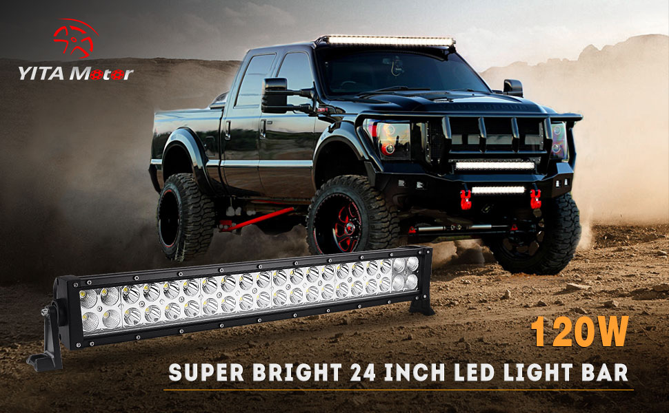 Amazon led light bar yitamotor 2pcs 24 inch light bar spot stay all night bright with the yitamotor 24 inch led light bar the latest led offroad lights for better performance it delivers unbelievable brightness aloadofball Image collections