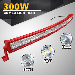 Amazon led light bar yitamotor 52 inch curved red light bar red housing led bar aloadofball Images