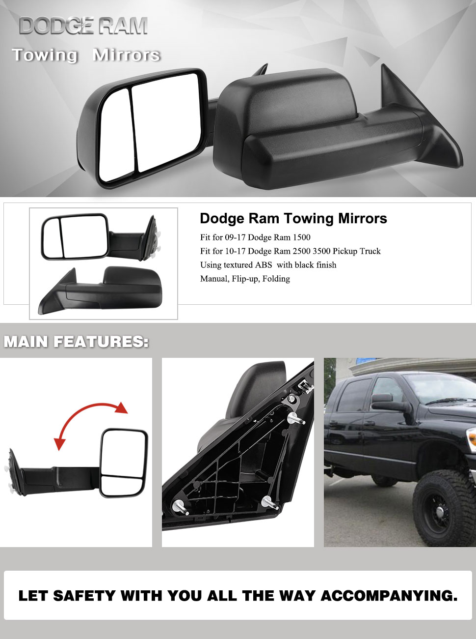 Amazon Com Yitamotor Towing Mirrors Compatible For Dodge Ram