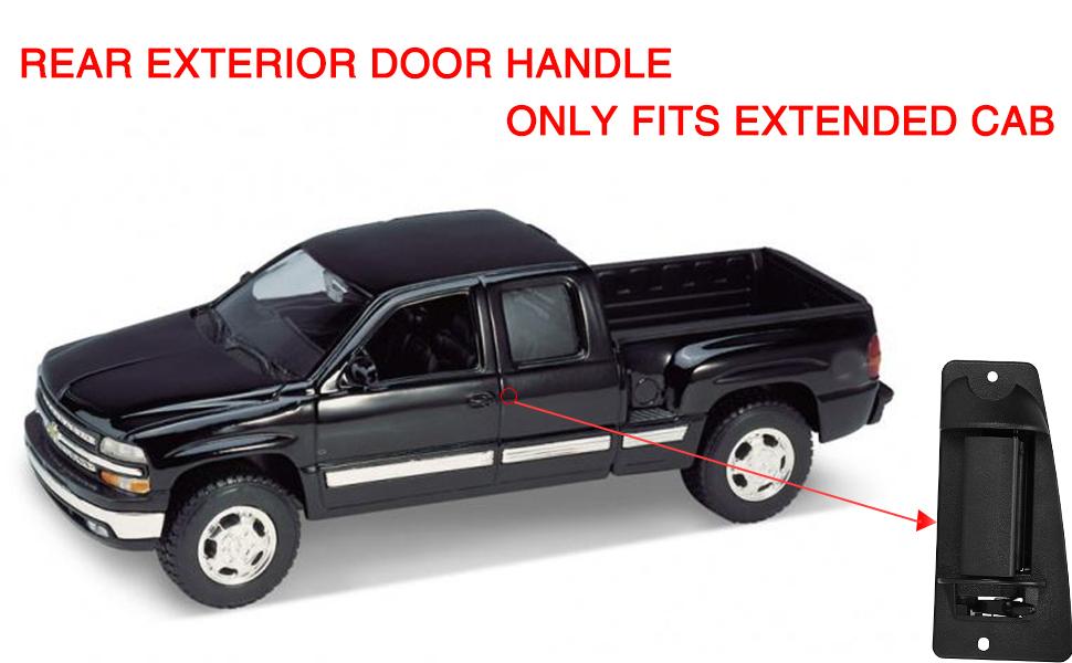 2004 2005 2006 Chevy Silverado Ext Cab Rear Door handle Right Passenger side rh