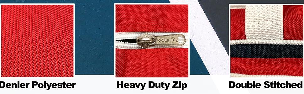 High Density Denier Polyester Heavy Duty Quality Zipper Material Features Tennis Duffel Tote Bag