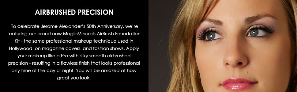 AIRBRUSHED PRECISION, Featuring the MagicMinerals AirBrush Foundation Kit used in Hollywood