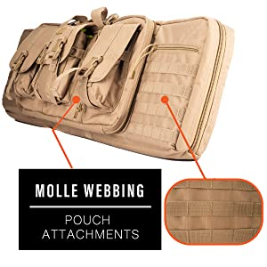 MOLLE webbing load carrying double carbine rifle bag CA-345 Lancer Tactical Ergonomic Backpack Strap