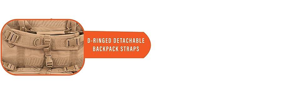 Lancer Tactical Rifle Backpack Double Carbine Adjustable Padded Backpack Straps D Rings Ergonomic