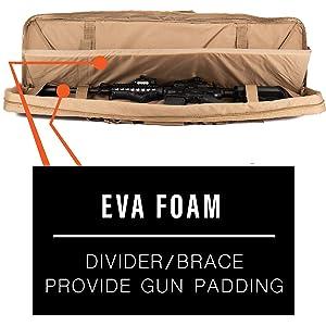 Lancer Tactical Rifle Bag CA-345 Double Carbine EVA Foam Shooting Mat Unfasten Buttons Prone Shoot