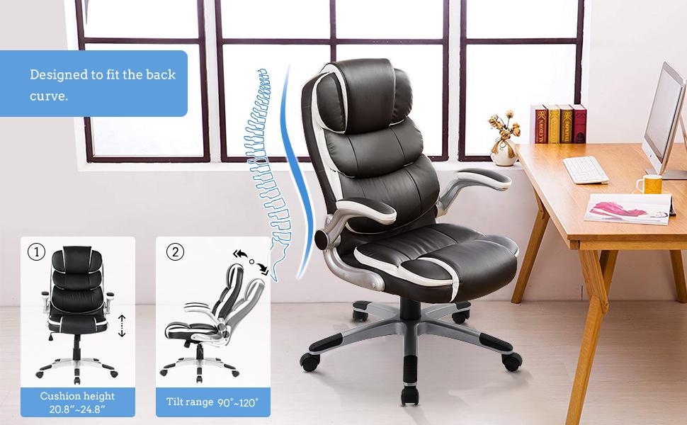 Ergonomic Computer Desk Executive Task Swivel Chair
