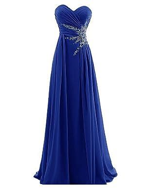 Dresstells Sweetheart Beads Floor-length Chiffon Prom Dress Evening Gowns Bridesmaid Dress