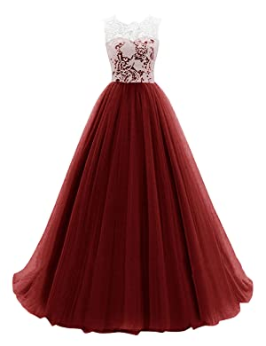 amazoncom dresstells long prom dress tulle evening dance