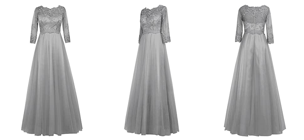Dresstells Long Bridesmaid Dress Prom Evening Party Dress Mother of the Bride Dress With Sleeves