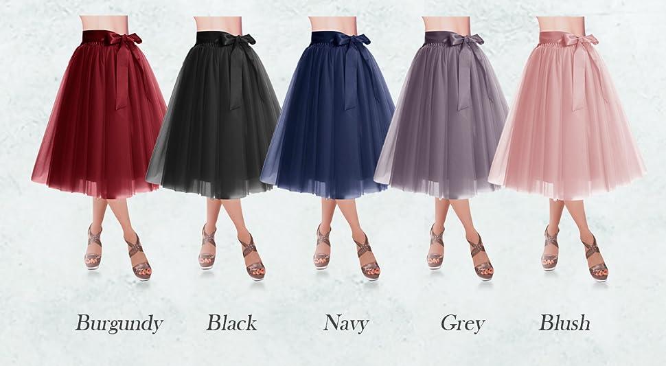 DRESSTELLS Knee Length Tulle Skirt Tutu Skirt Evening