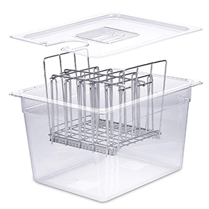 sous vide rack and container