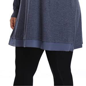 Shiaili women plus size tunic tops loose fitting blouse swing oversized dress shirt for spring 2x 3x