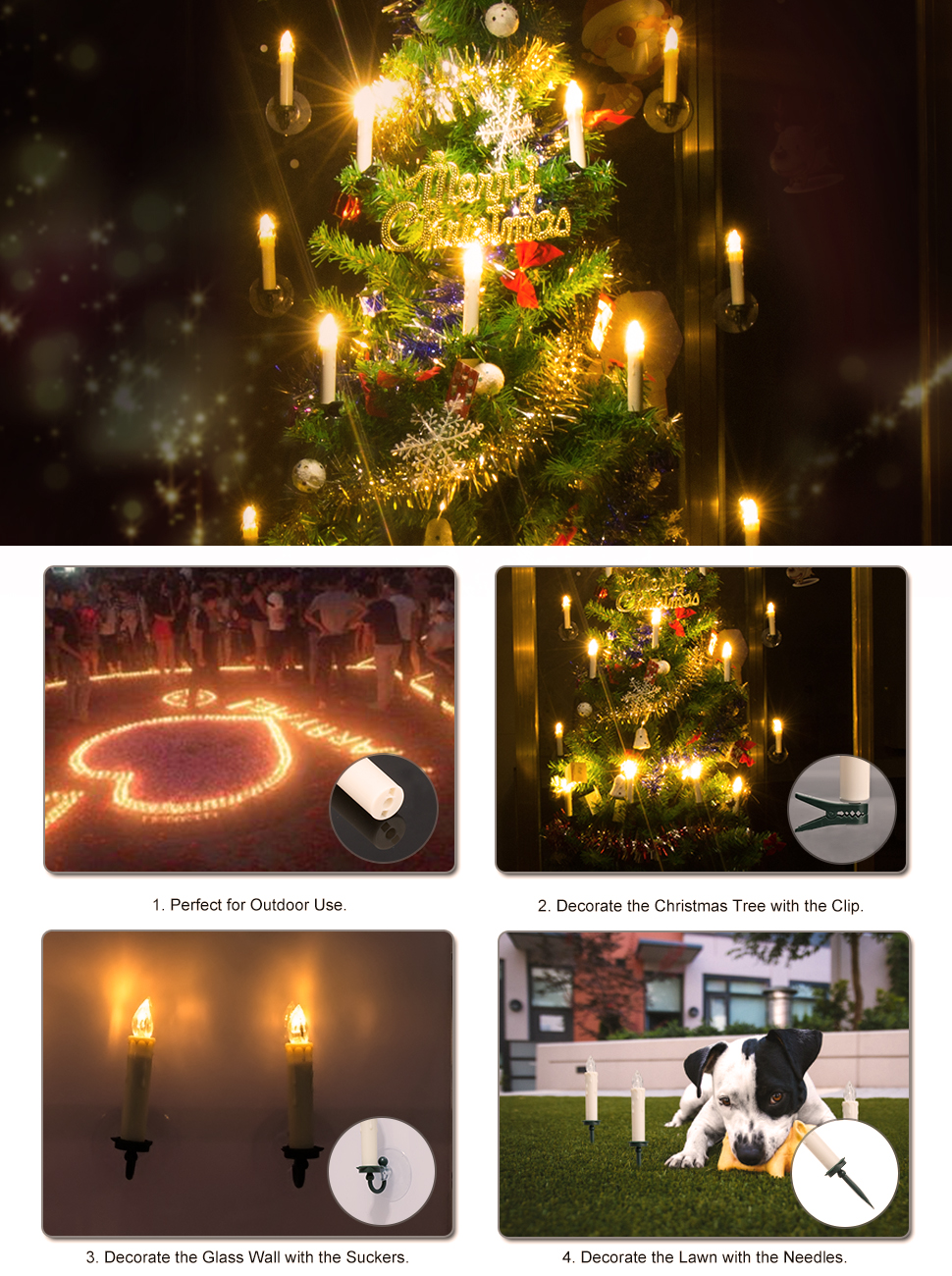 Amazon.com: PChero Dimmable Timer Candles, 10pcs Warm White LED ...