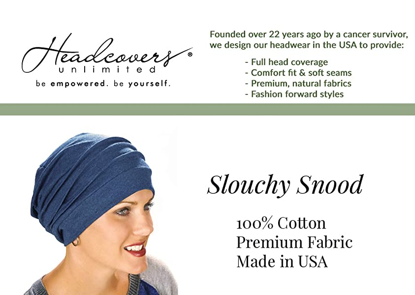 6c98a9a4cf9 Amazon.com  Headcovers Unlimited Slouchy Snood-Caps for Women with ...