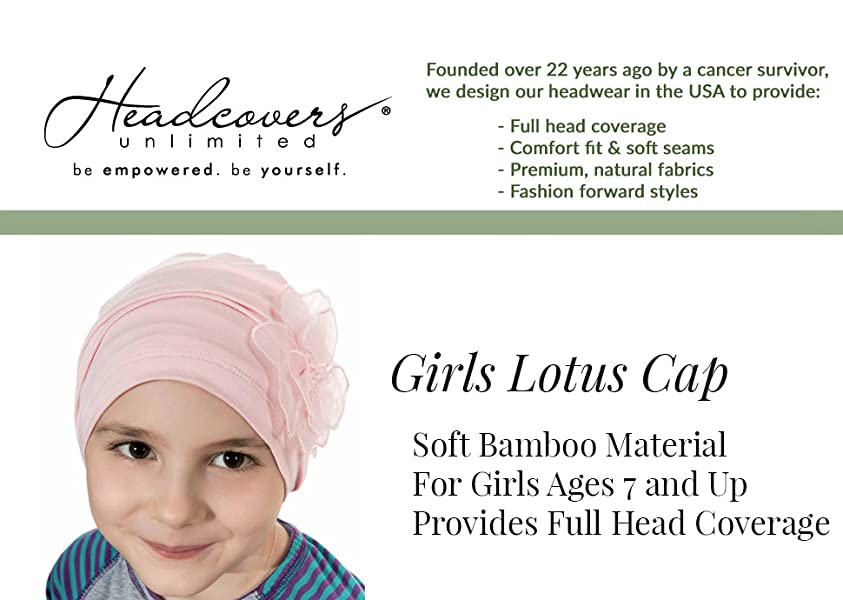 d492dd00bd7 Amazon.com  Lotus Cap for Girls