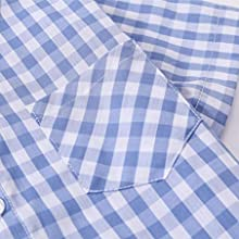 Short Sleeve Plaid Shirt for Boys 2 Years-14 Years