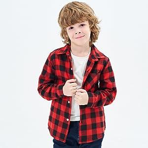 Little & Big Boys' Button Down Shirt 18M-14 Year