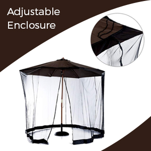 Adjustable enclosure mosquito net