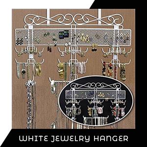 White jewelry stand