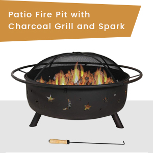 Fire Pit with Charcoal grill