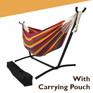 Hammock bed with carrying pouch