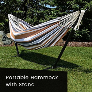 Portable hammock with stand