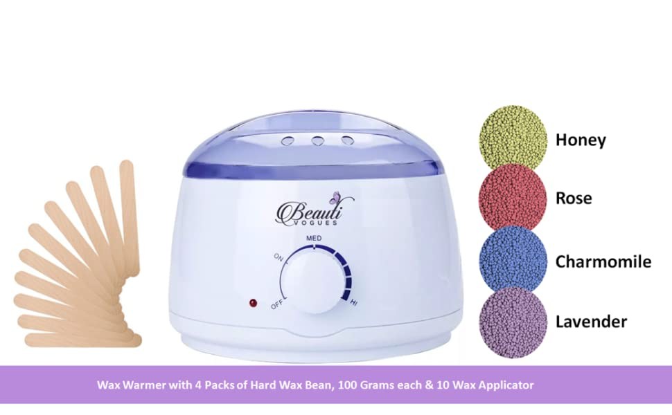 Rapid Melting Wax Warmer, Hair Removal Waxing Kit Stripless