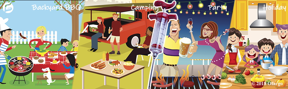 Versatile uses in various applications for backyard bbq grill smoking camping party big holidays