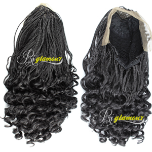 Amazon.com : Riglamour Micro Braids Wig with Wavy End ...