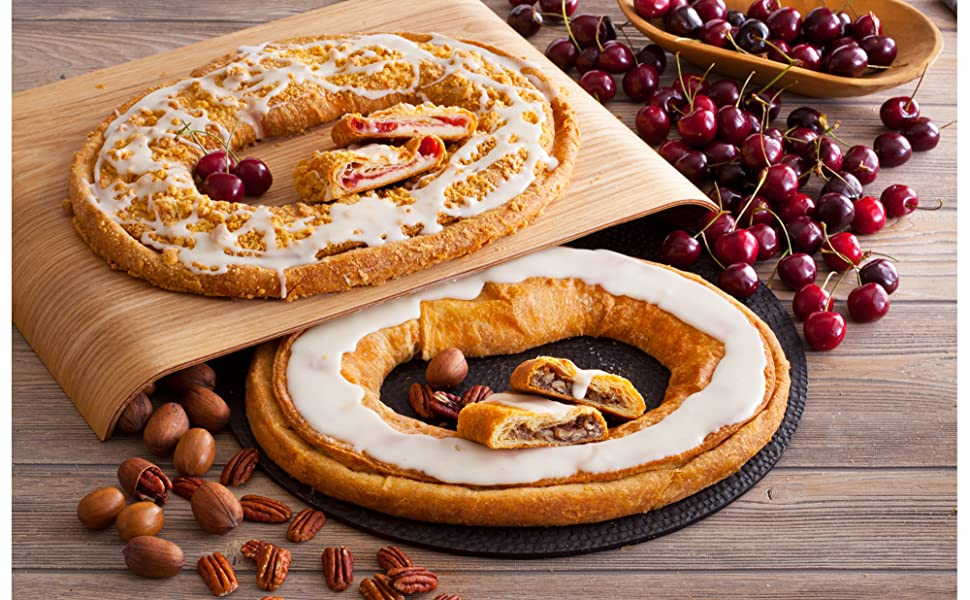 Danish Kringle Pair Cherry Cheese Pecan Amazon Com Grocery
