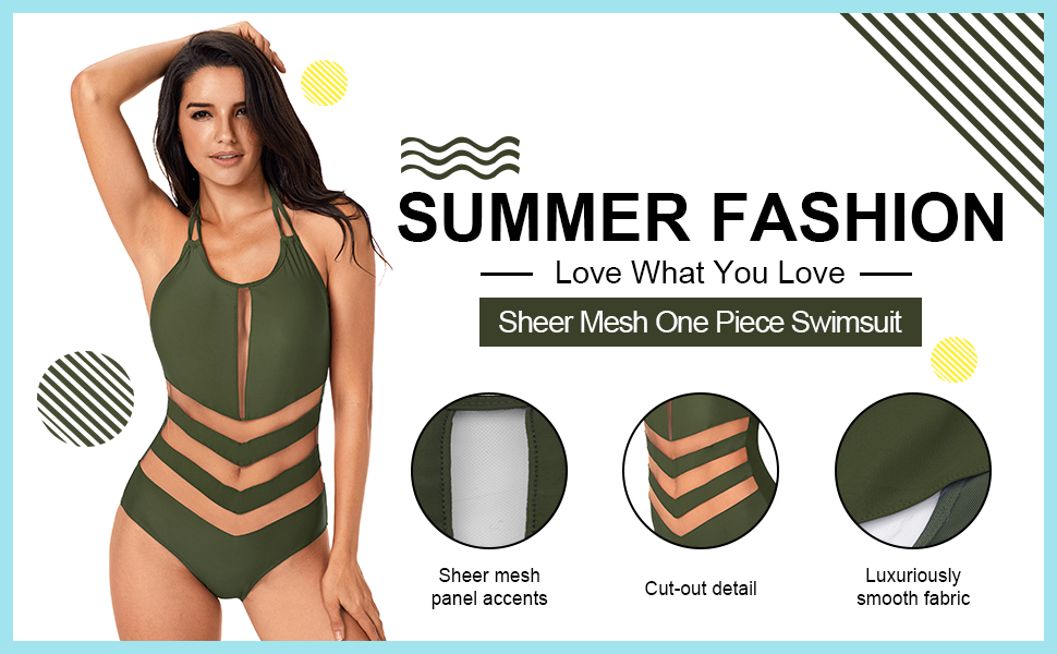 170770943c Annigo Red Swimsuit for Womens Sexy One Piece Monokini Tummy Control ...