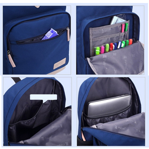 Structure: 1*main pocket for A4 A5 books, pencil case, color pen, daily use 2* side pockets for bottle or umbrella 1* front pockets for small stationery