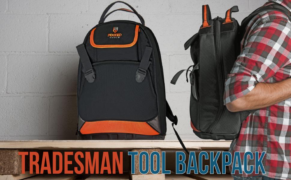 Rugged Tools Trademan Tool Backpack