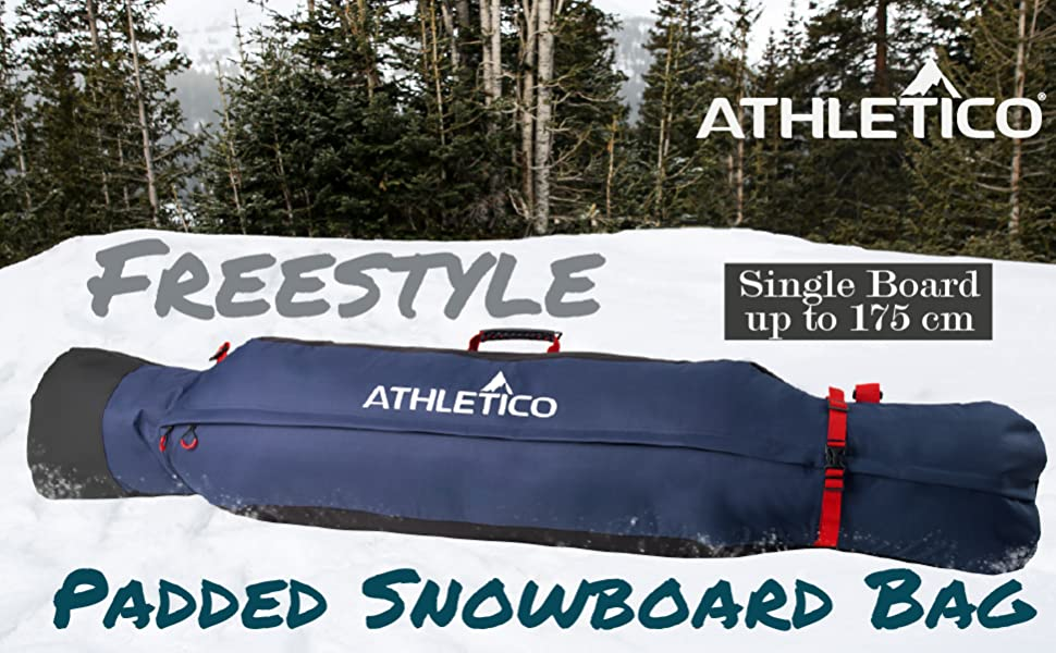 Athletico Freestyle Padded Snowboard Bag - Fits single snowboard up to 175 cm