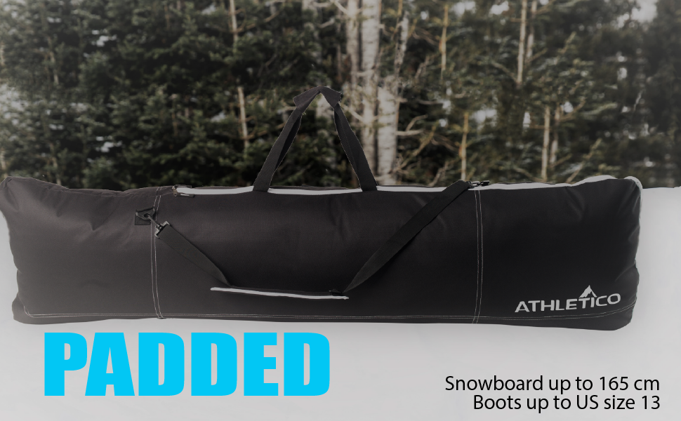 Athletico PADDED Snowboard Boot Bag Combo