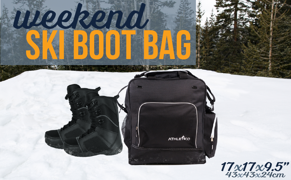 Athletico Weekend Ski Boot Bag for Snowboard or Ski Boots and Accessories
