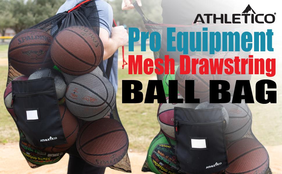 Athletico Pro Equipment Jumbo Deluxe Mesh Drawstring Ball Bag
