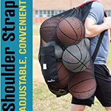 Athletico Pro Equipment Mesh Drawstring Ball Bag Adjustable Shoulder Carrying Strap