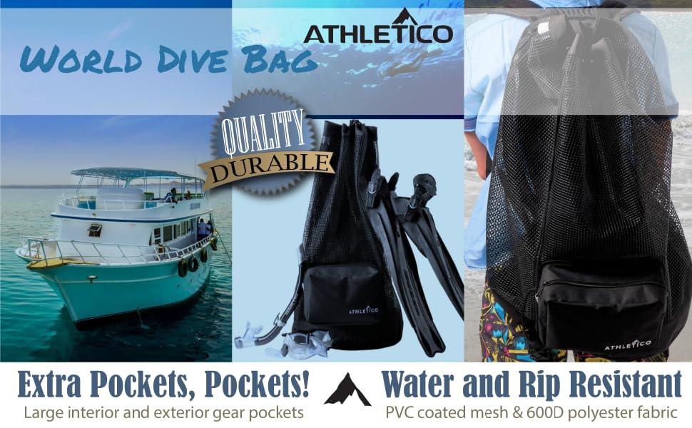 Mesh Dive Backpack Duffel XL Scuba Gear Snorkel Gear