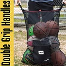 Athletico Pro Equipment Mesh Drawstring Ball Bag Double grip handles