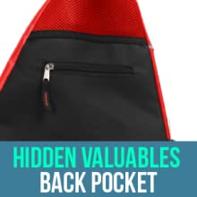 Athletico Pickleball Sling Bag with back pocket for hidden valuables security