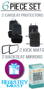 ZOHZO 6 Piece Car Bundle with mirror, protectors, and kick mat