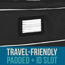 Athletico Travel-friendly padded lacrosse bag with luggage ID card slot